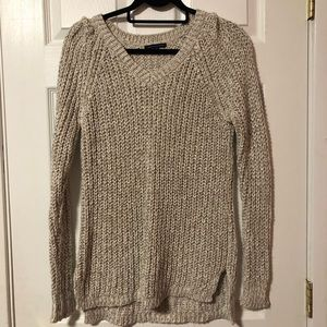 American Eagle Cream/gold knit sweater